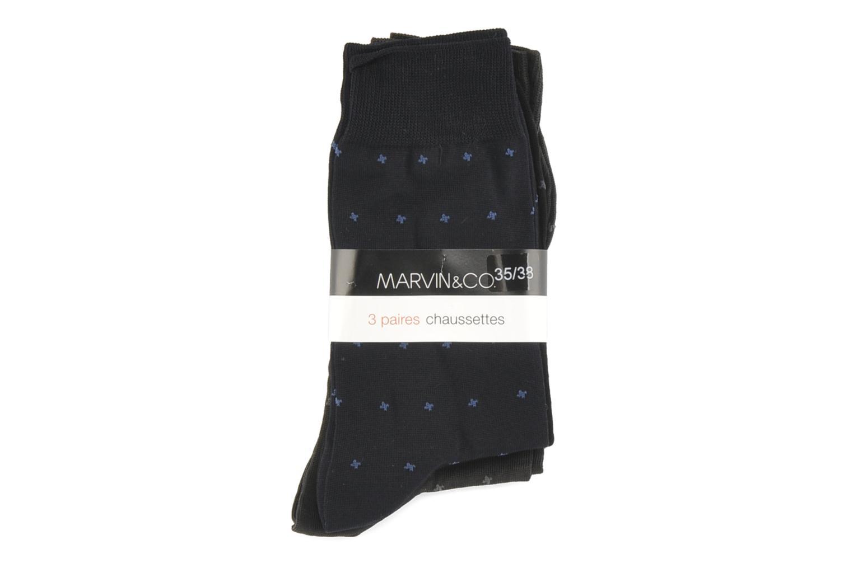 Chaussettes et collants Sarenza Wear Chaussettes Petist Careaux Coton Multicolore vue derrière