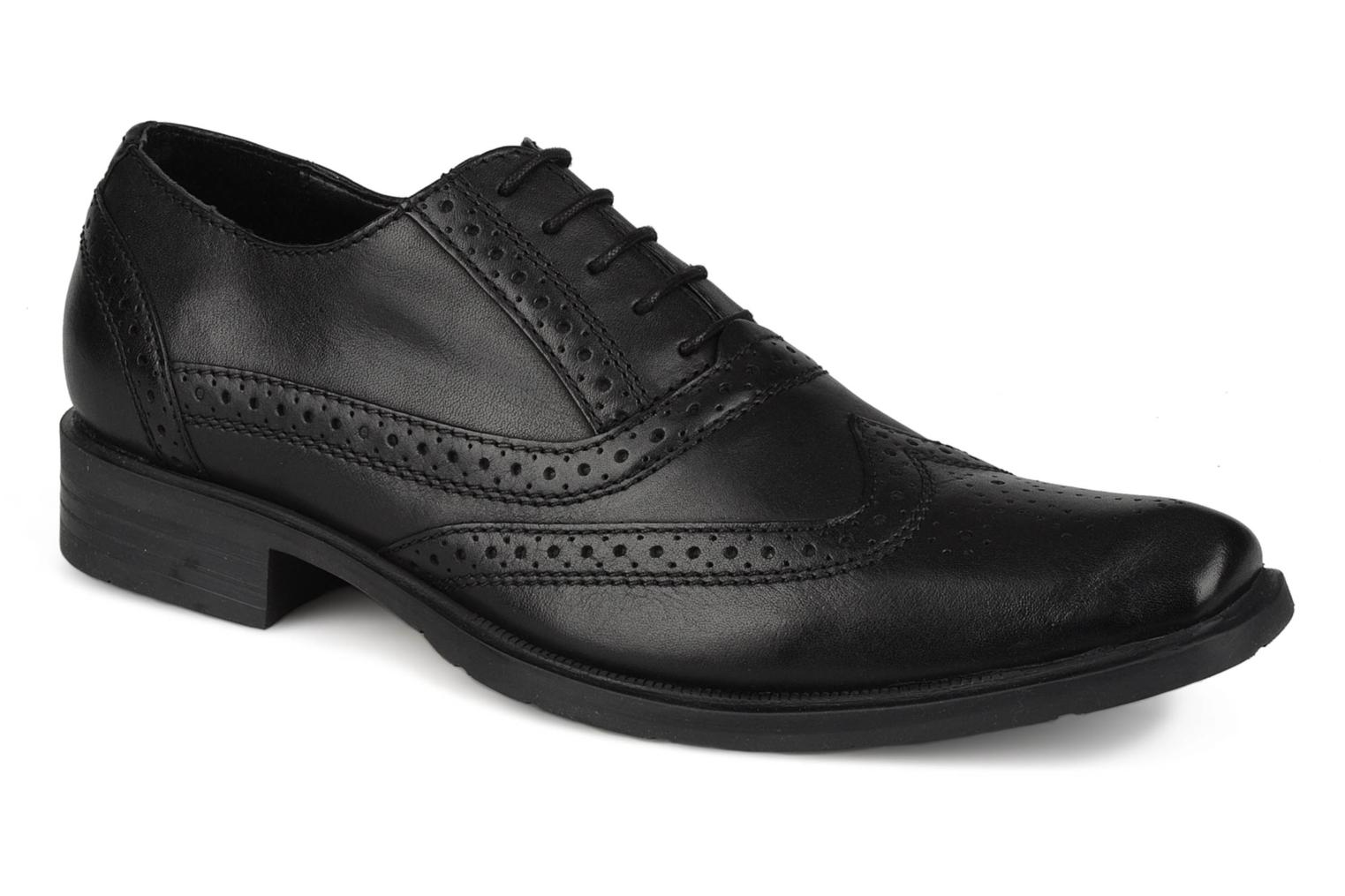 Lace-up shoes Hush Puppies Eastfield Black detailed view/ Pair view