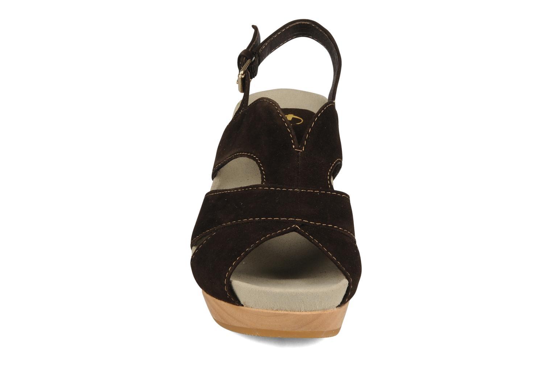 Sandales et nu-pieds Kalso Earth Monaco Marron vue portées chaussures