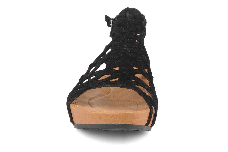 Sandales et nu-pieds Kalso Earth Exquisite Noir vue portées chaussures