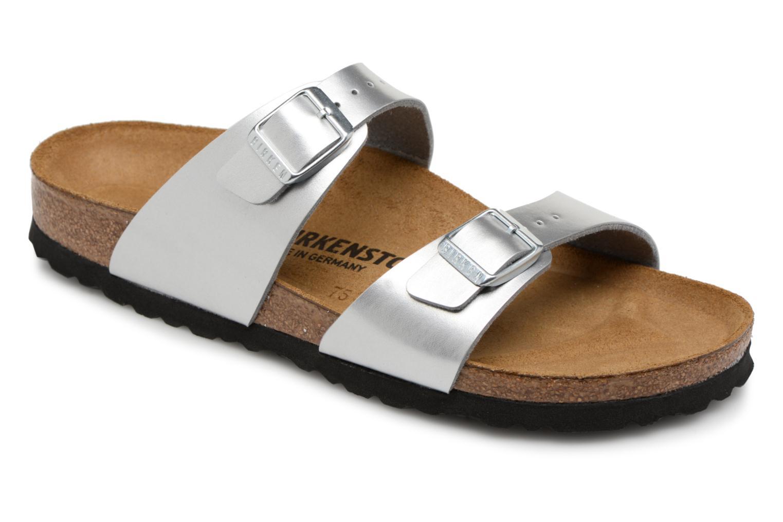 Zapatos especiales para hombres y mujeres Birkenstock Sydney Flor W (Plateado) - Zuecos en Más cómodo