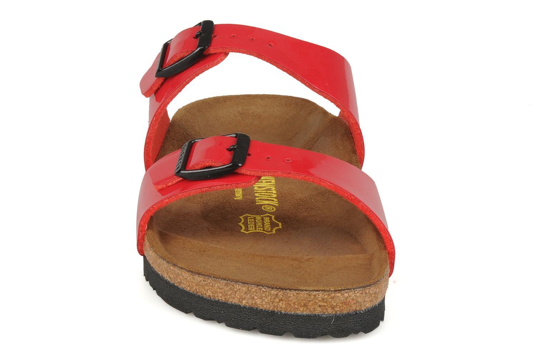 Clogs & Pantoletten Birkenstock Sydney Flor W rot schuhe getragen