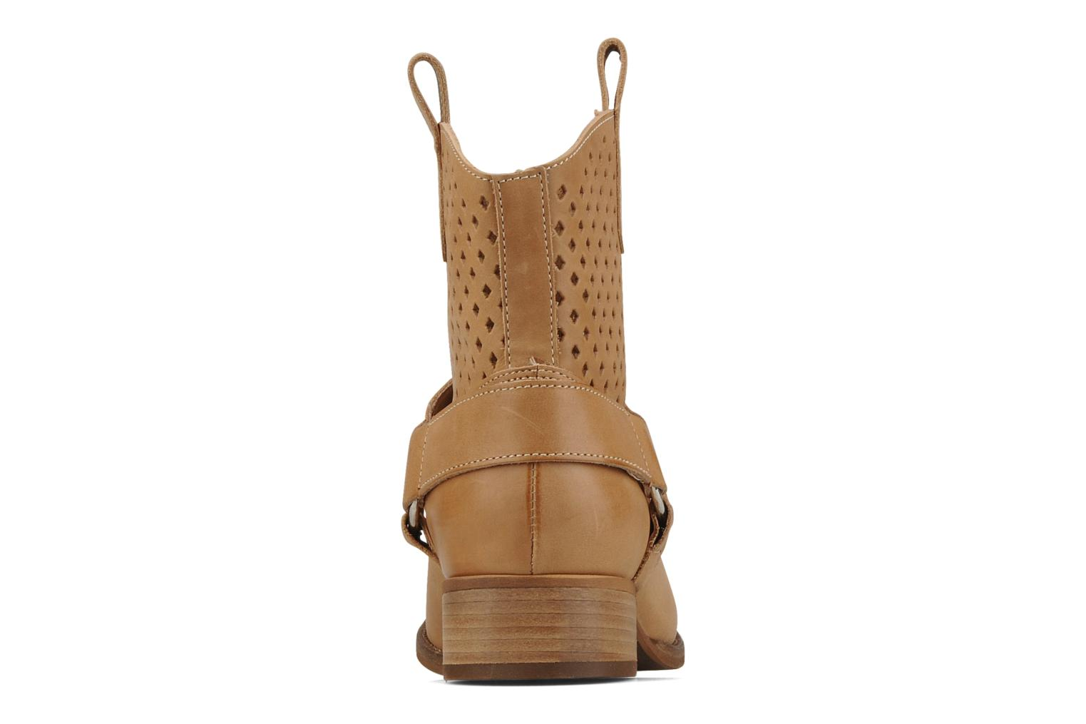 Ankle boots San Marina Alems Beige view from the right