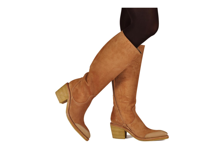 Stiefel Free Lance Wallis 7 hi botte gold/bronze ansicht von unten / tasche getragen