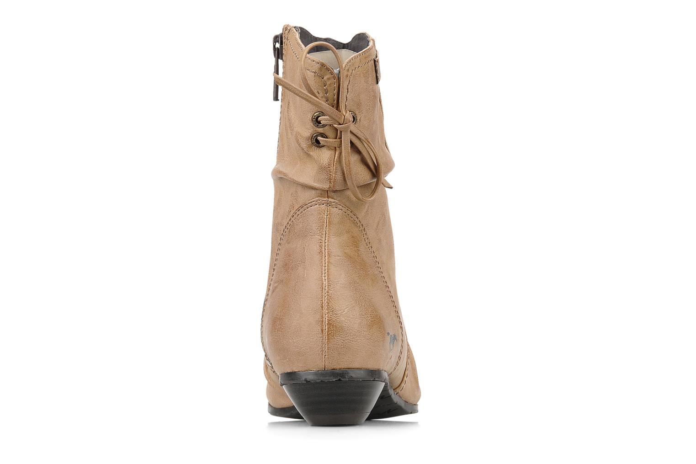 Bottines et boots Mustang shoes Simur Beige vue droite