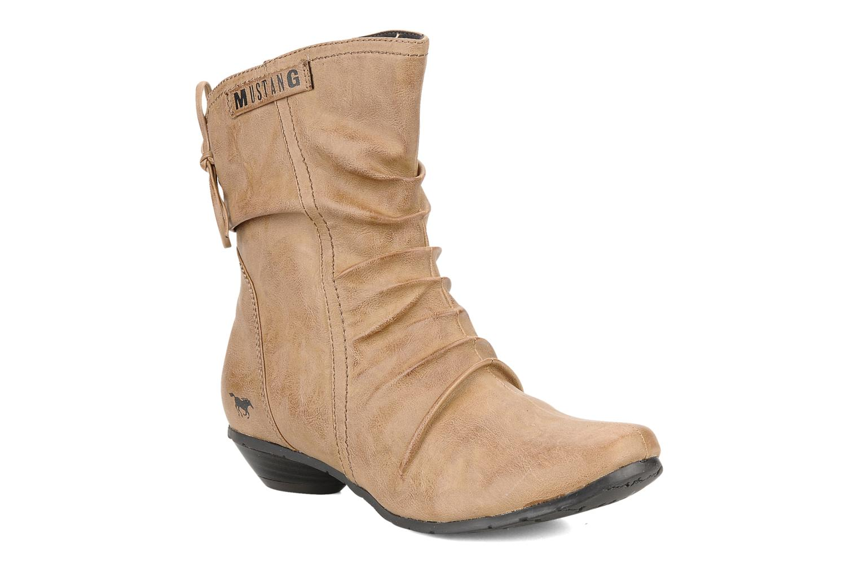 Bottines et boots Mustang shoes Simur Beige vue détail/paire