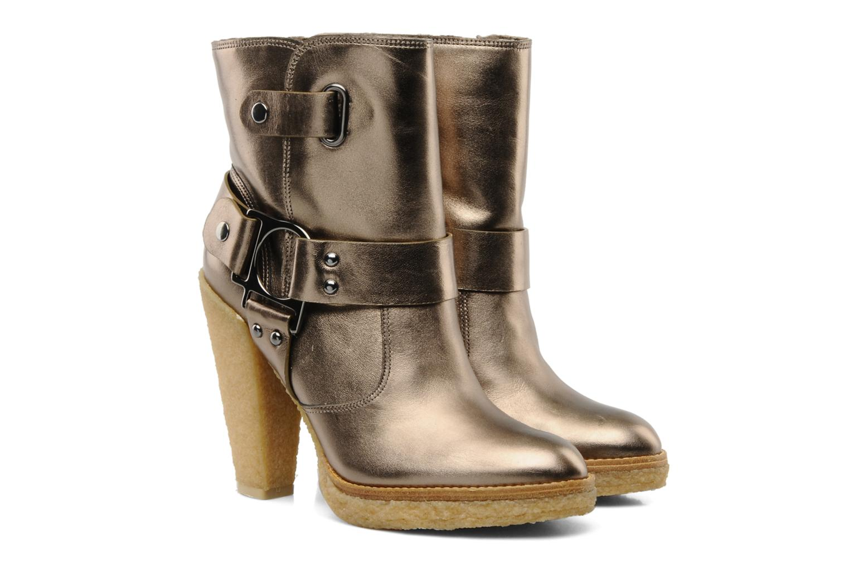 Bottines et boots Belle Tahira Or et bronze vue 3/4