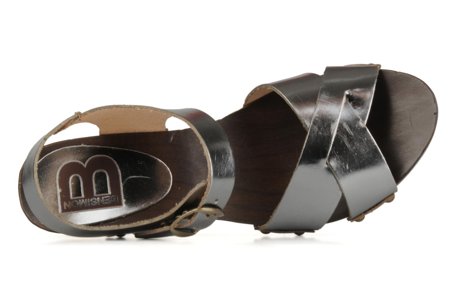 Sandals Bensimon Sandales exclu Silver view from the left