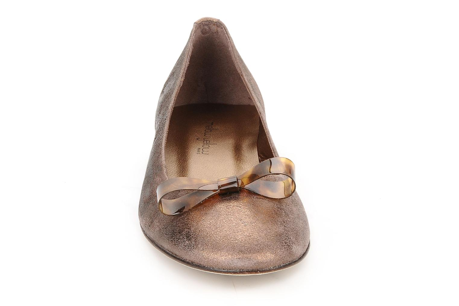 Ballet pumps Mellow Yellow Kamini Bronze and Gold model view