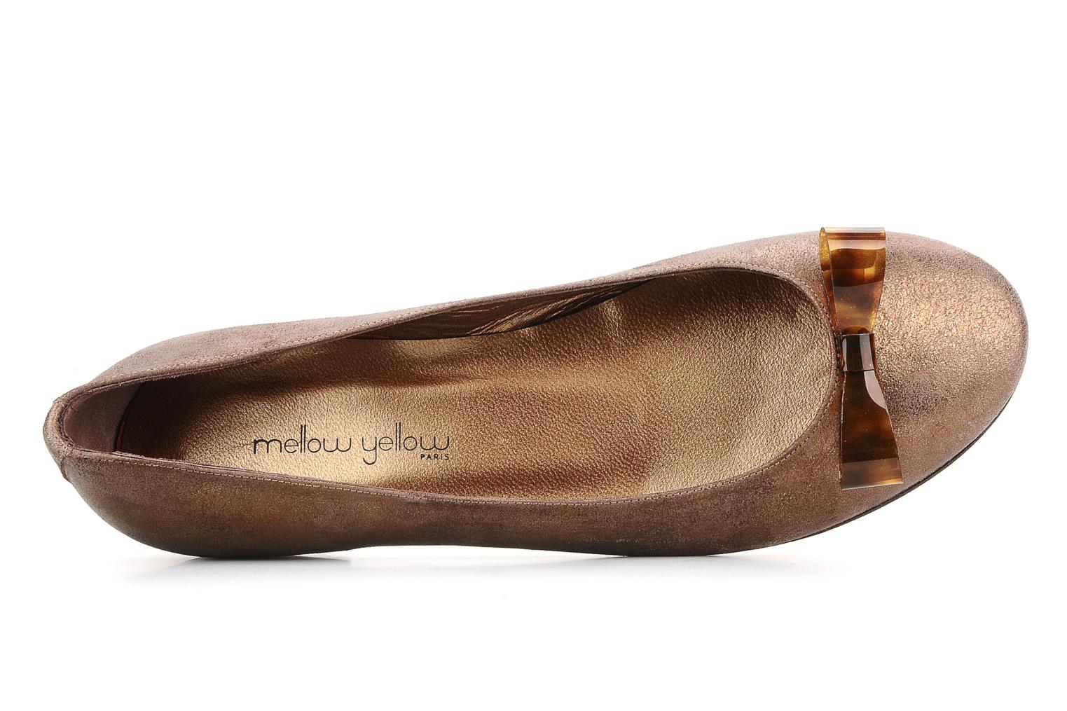 Ballet pumps Mellow Yellow Kamini Bronze and Gold view from the left