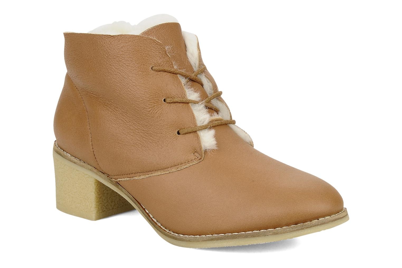 Lace-up shoes Mellow Yellow Kolchic Brown detailed view/ Pair view