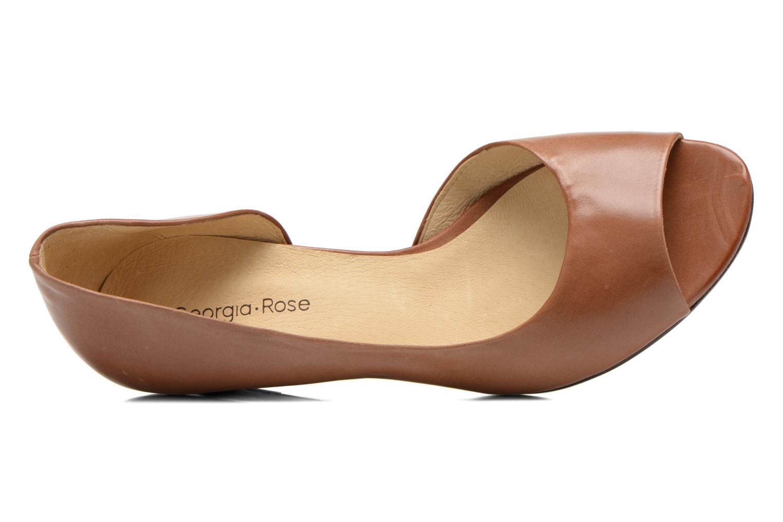 Zapatos de tacón Georgia Rose Phoeti Marrón vista lateral izquierda