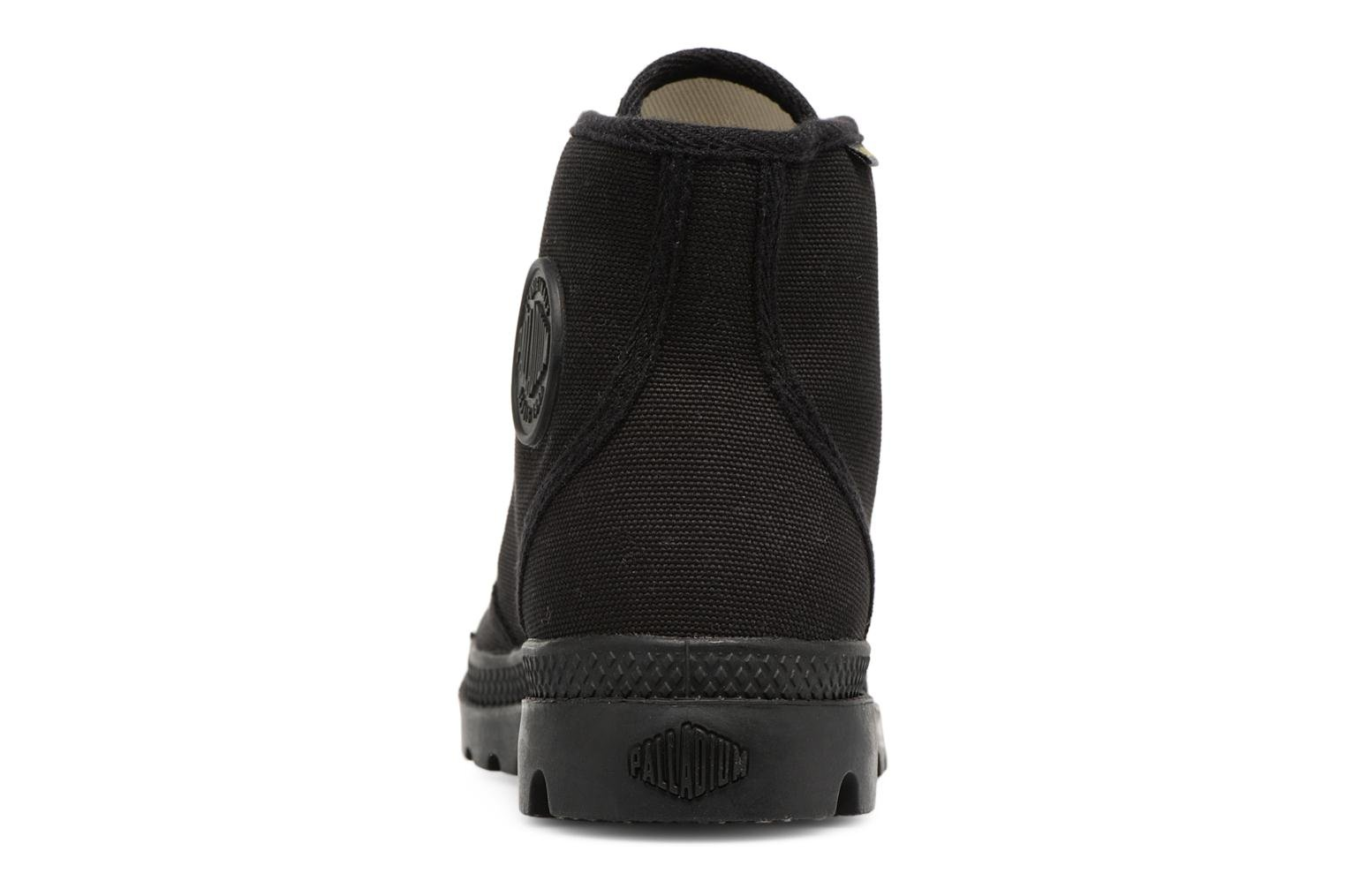 Trainers Palladium Pampa hi w Black view from the right