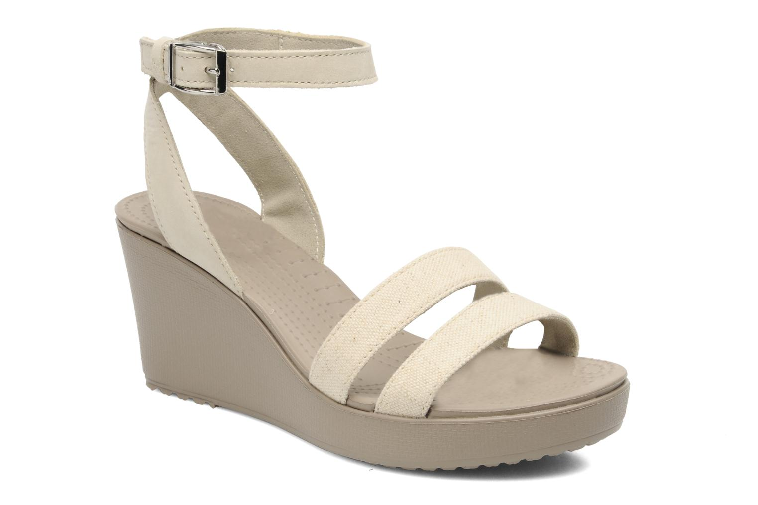 Zapatos promocionales Crocs Leigh wedge (Beige) - Sandalias   Zapatos casuales salvajes