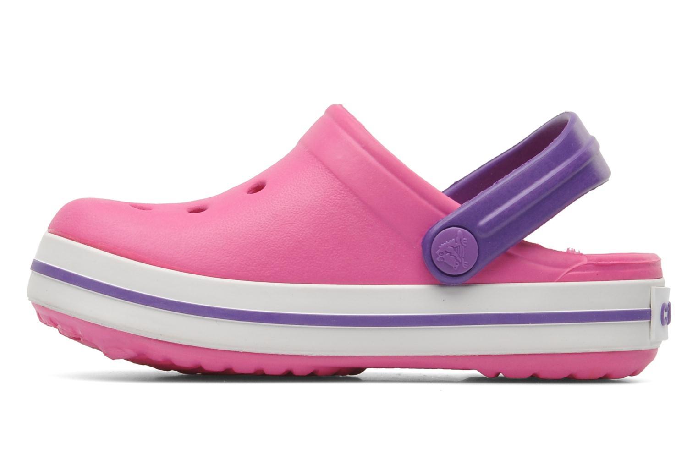 Sandals Crocs Crocband kids Pink front view
