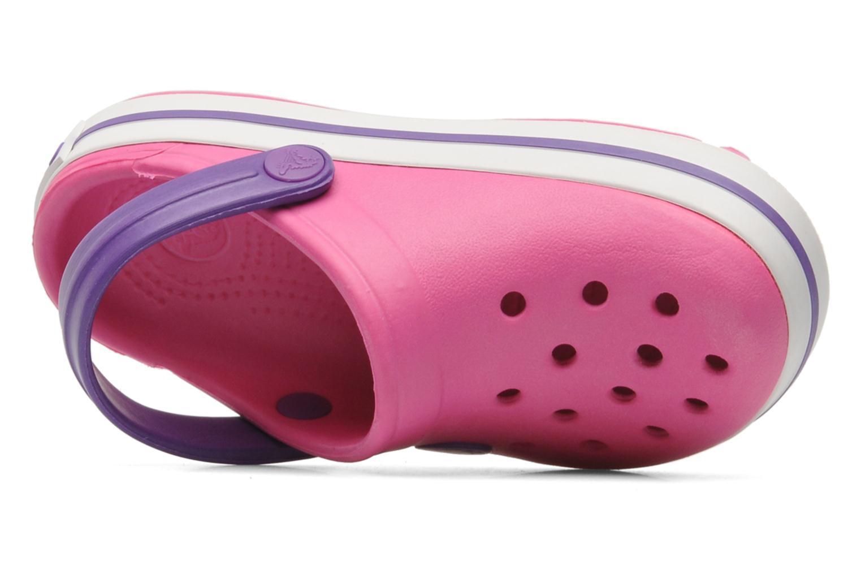 Sandaler Crocs Crocband kids Pink se fra venstre