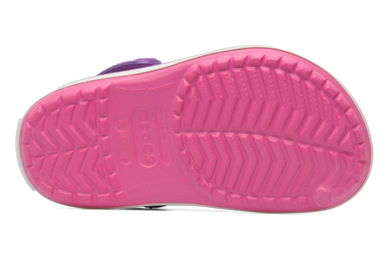 Sandalen Crocs Crocband kids rosa ansicht von oben