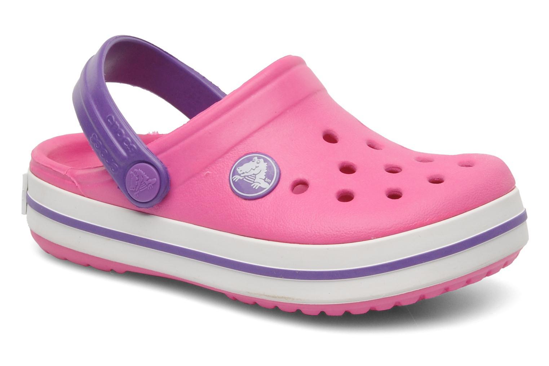 Sandals Crocs Crocband kids Pink detailed view/ Pair view