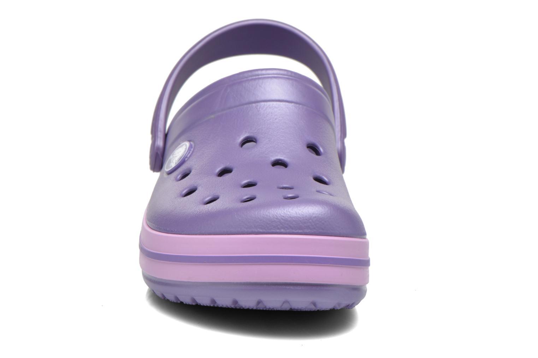 Sandalen Crocs Crocband kids lila schuhe getragen