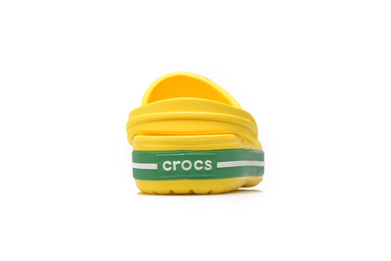 Sandales et nu-pieds Crocs Crocband kids Jaune vue droite