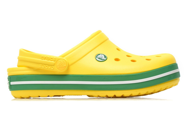 Sandales et nu-pieds Crocs Crocband kids Jaune vue derrière
