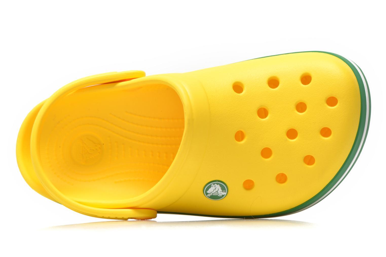 Sandales et nu-pieds Crocs Crocband kids Jaune vue gauche