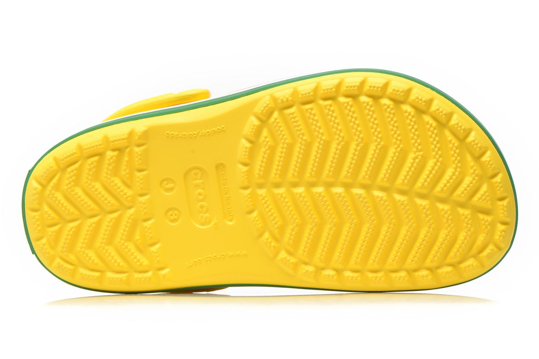 Sandales et nu-pieds Crocs Crocband kids Jaune vue haut
