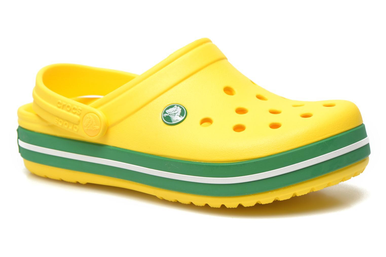 Sandales et nu-pieds Crocs Crocband kids Jaune vue détail/paire
