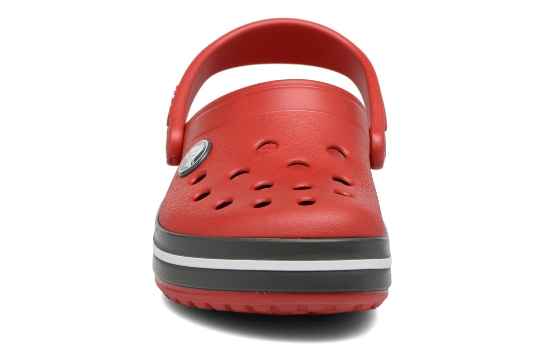 Sandalen Crocs Crocband kids rot schuhe getragen