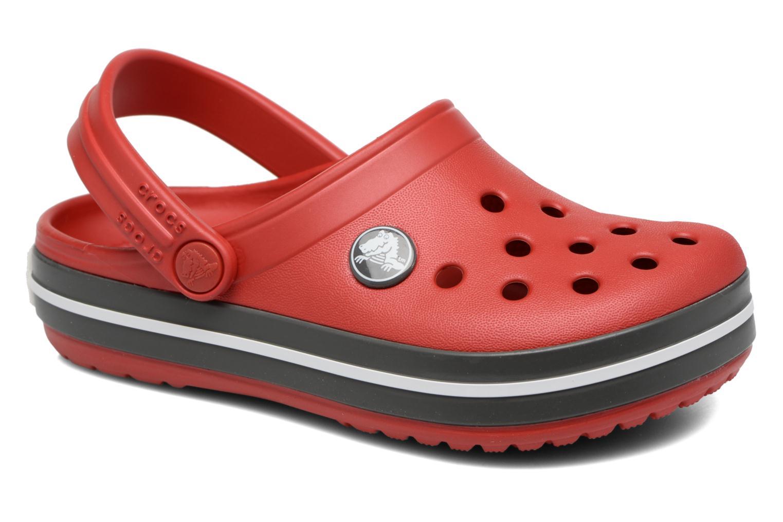 Sandaler Crocs Crocband kids Röd detaljerad bild på paret