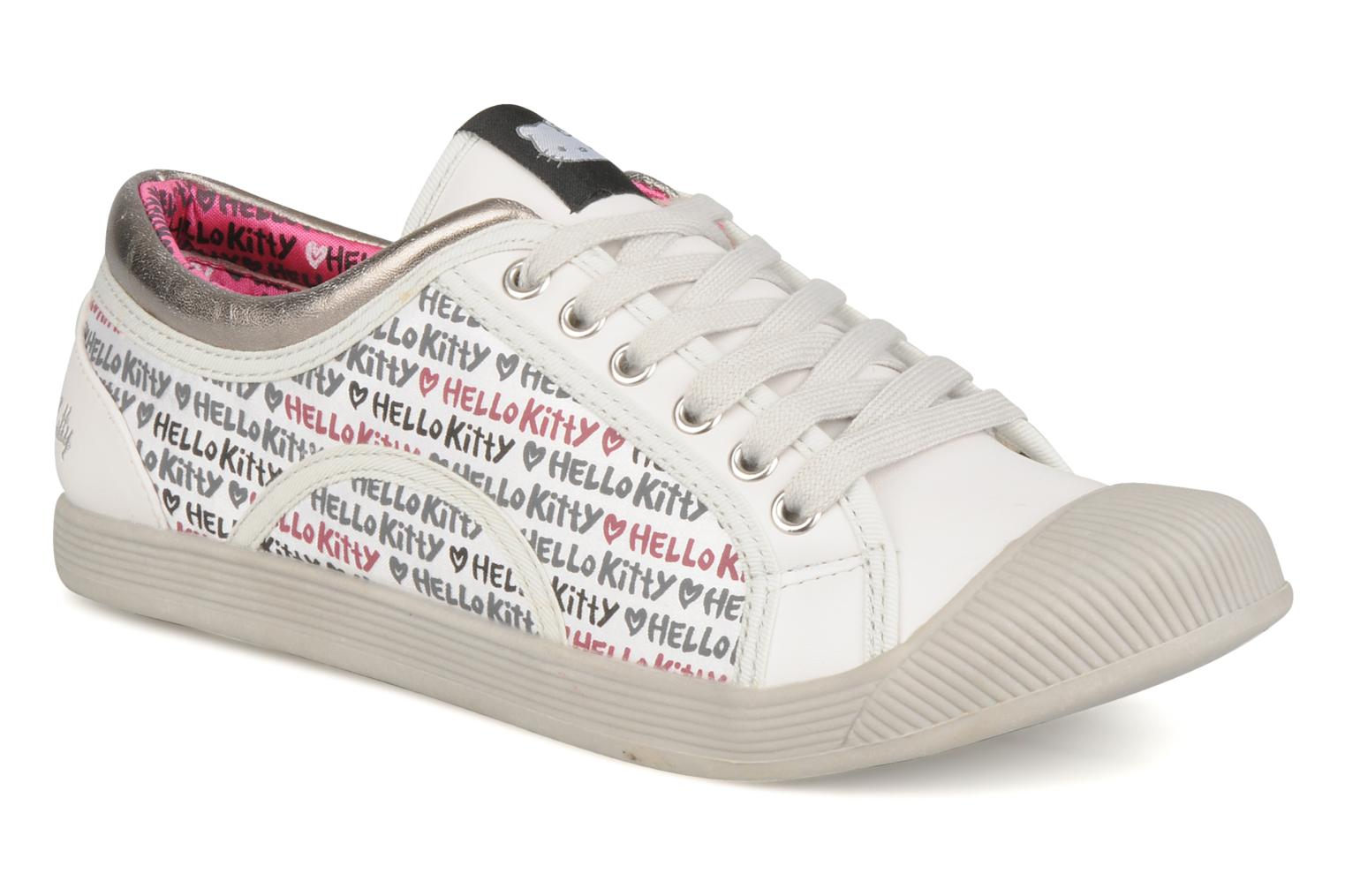 Baskets Hello Kitty Hk luna low Blanc vue détail/paire