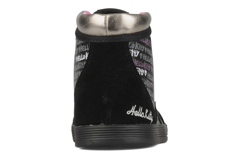 Sneakers Hello Kitty Hk luna mid Nero immagine destra