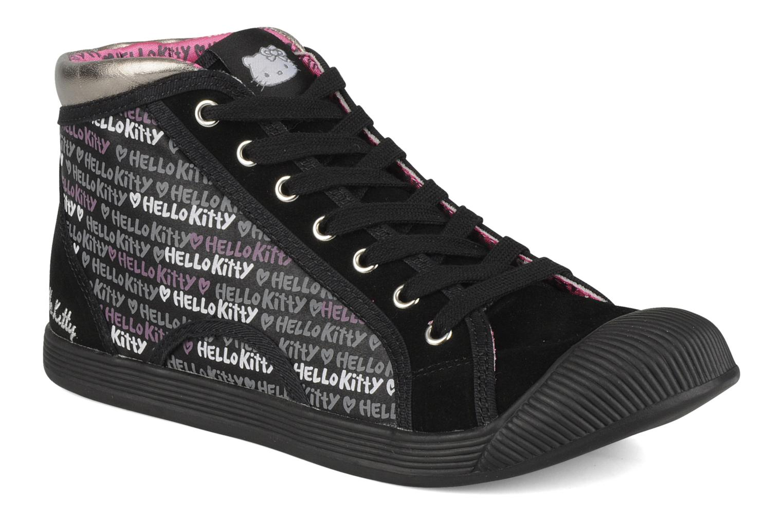 Baskets Hello Kitty Hk luna mid Noir vue détail/paire