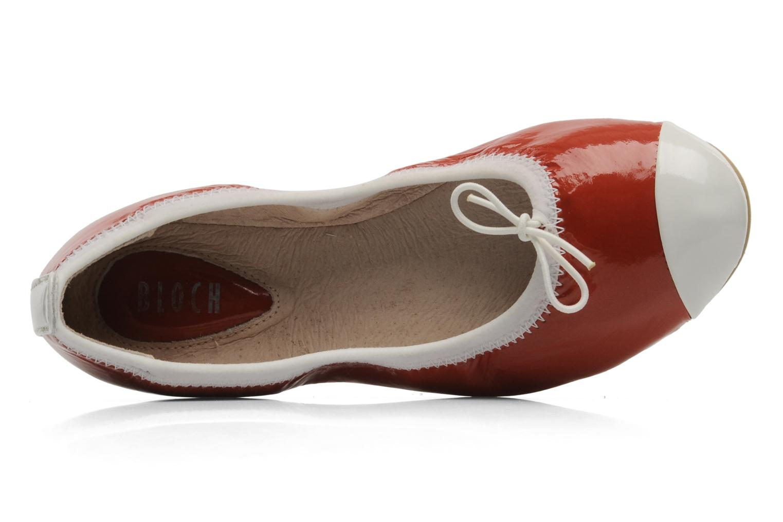 Ballerinas Bloch Girls luxury rot ansicht von links