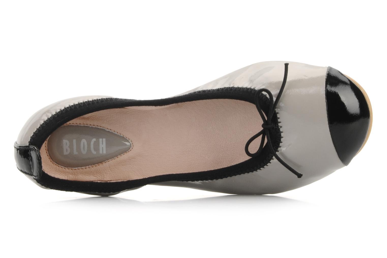 Ballerinas Bloch Girls luxury silber ansicht von links