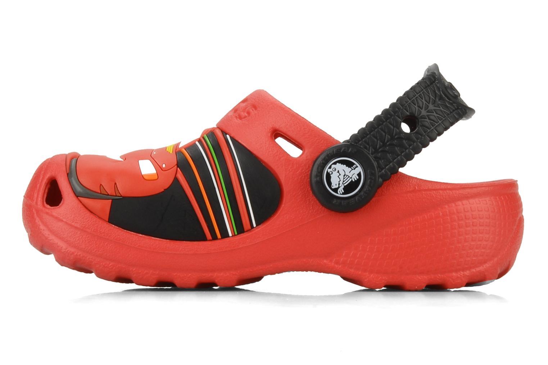 Sandalen Crocs Cars 2 Custom Clog rot ansicht von vorne