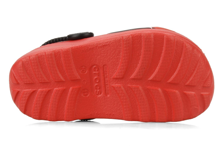 Sandalen Crocs Cars 2 Custom Clog rot ansicht von oben