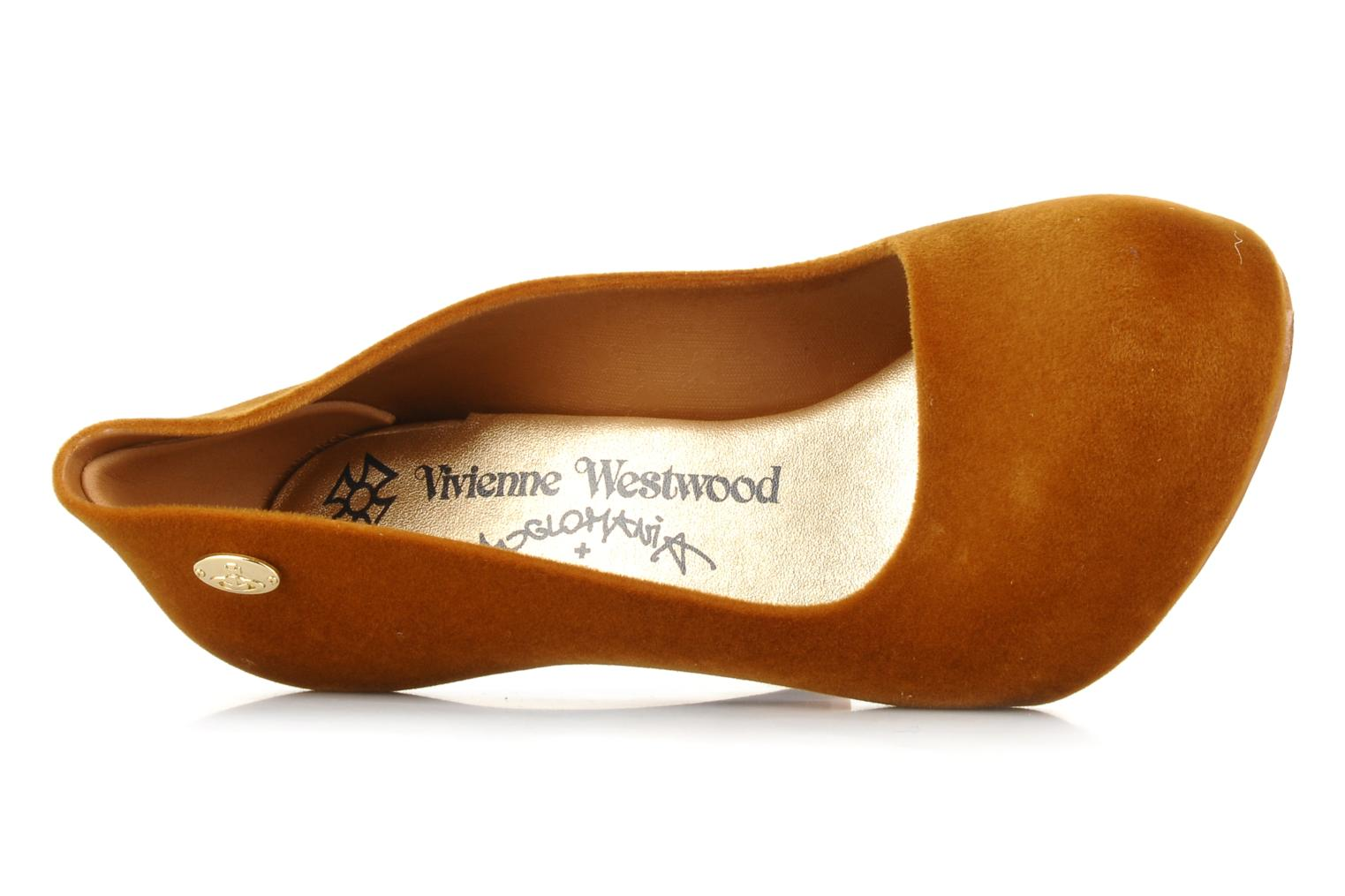 High heels Melissa Vivienne westwood anglomania + melissa skycraper Brown view from the left