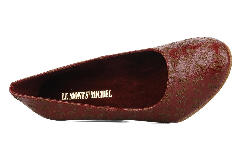 Zapatos de tacón Le Mont St Michel Ponoma Vino vista lateral izquierda