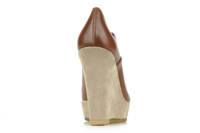 Zapatos con cordones Castaner Fusta Marrón vista lateral derecha