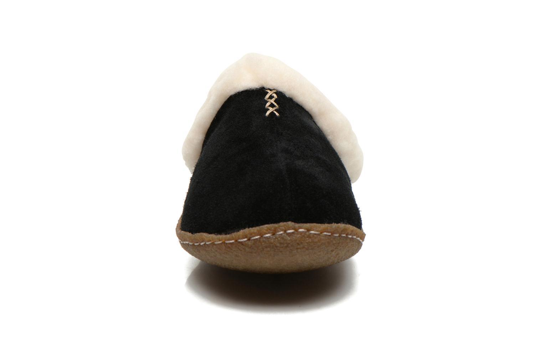 Hausschuhe Sorel Nakiska slide schwarz schuhe getragen