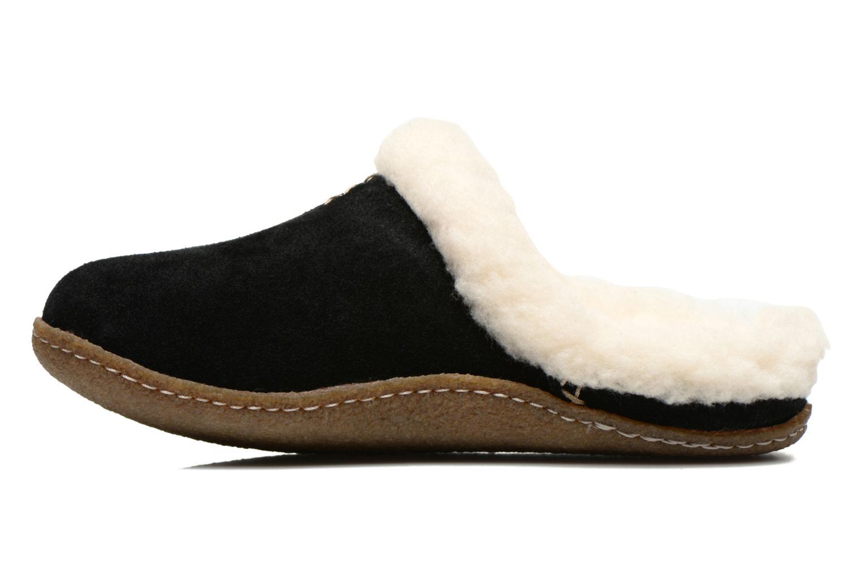 Pantoffels Sorel Nakiska slide Zwart voorkant