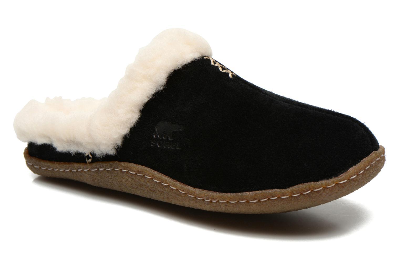 Pantoffels Sorel Nakiska slide Zwart detail