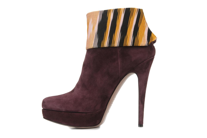 Bottines et boots Missoni Sitia Bordeaux vue face