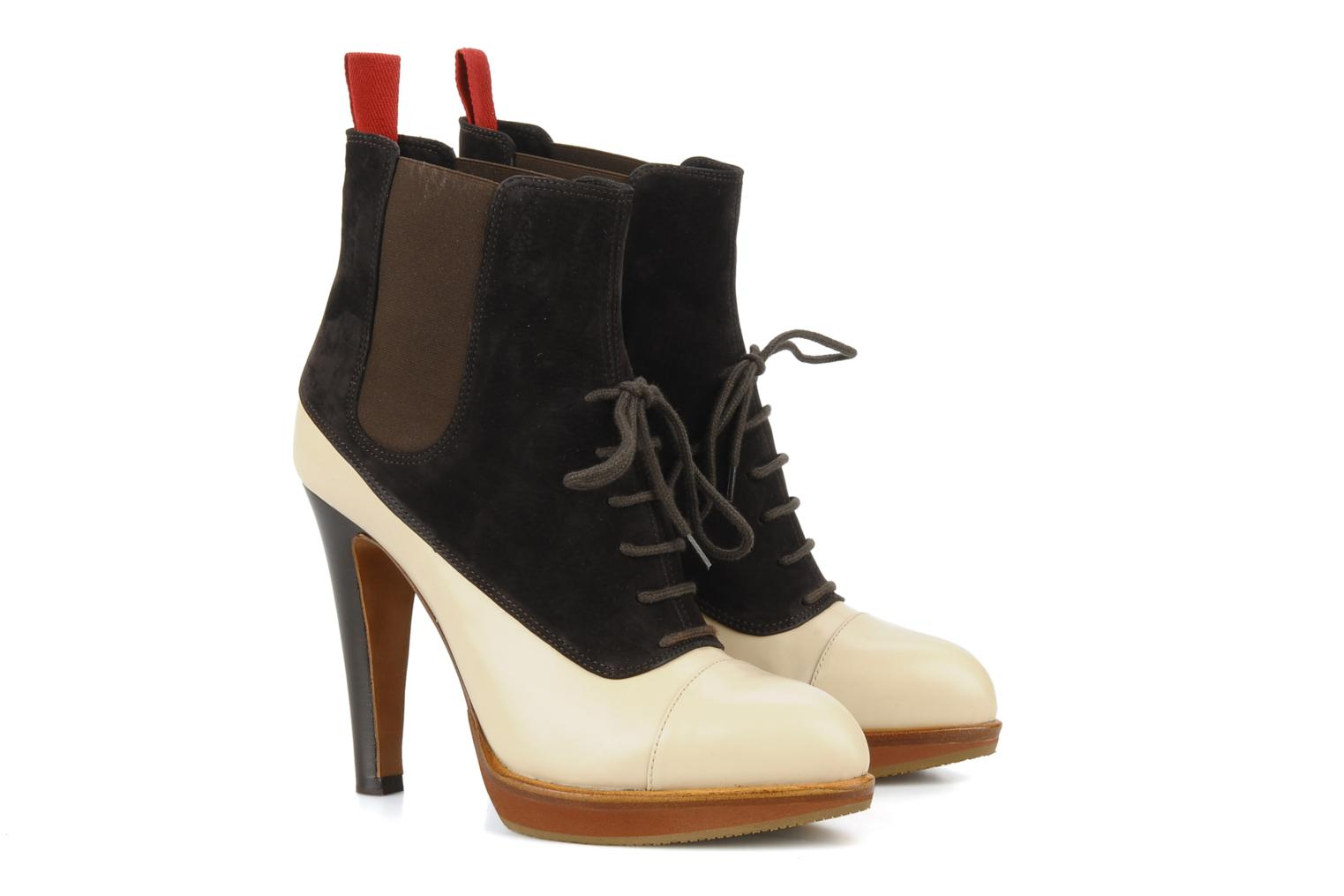 Ankle boots Michel Perry Virona Beige 3/4 view