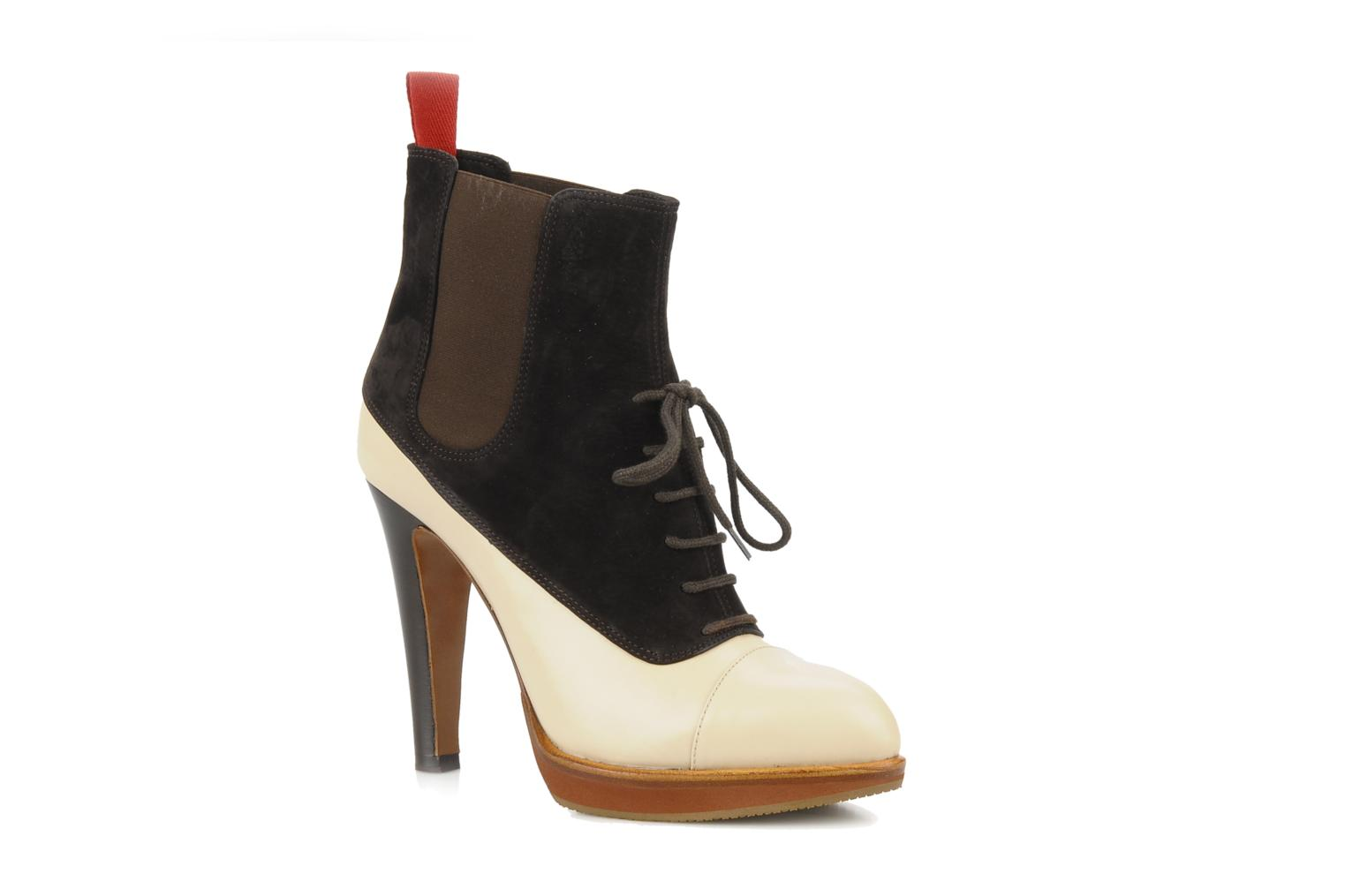Ankle boots Michel Perry Virona Beige detailed view/ Pair view