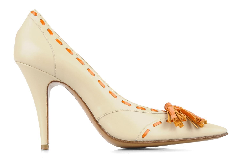 Zapatos de tacón Michel Perry Iraklia Beige vistra trasera