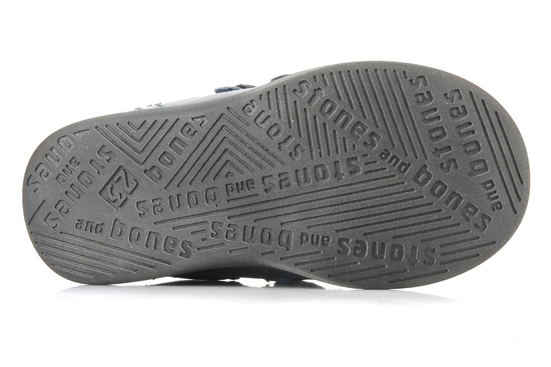 Chaussures à scratch Stones and Bones Sofi Bleu vue haut