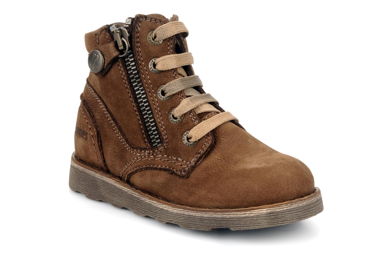 Ankelstøvler Stones and Bones Bobby Brun detaljeret billede af skoene