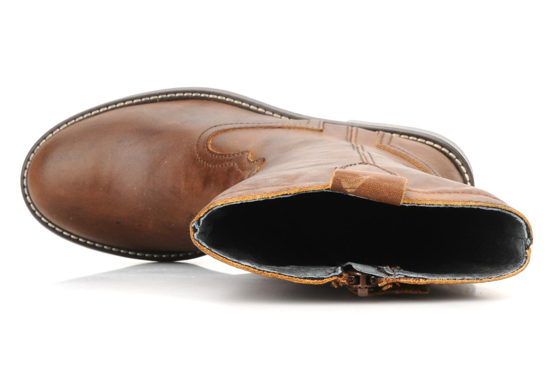Stiefel Naturino Tiloski braun ansicht von links